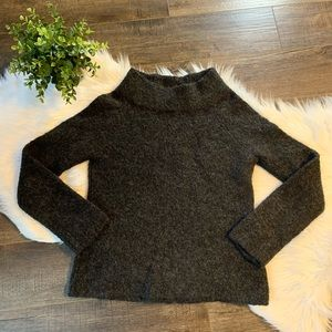 Anthropologie [Moth] fuzzy wool mock neck sweater